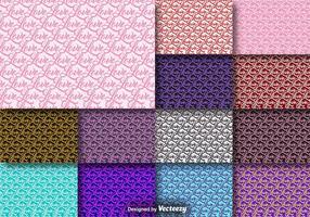 Coleção de padrões sem costura de Word Love vetor
