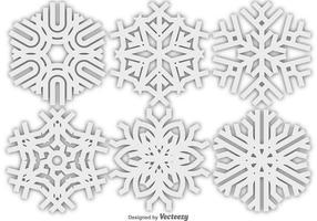 Ícone de flocos de neve do vetor