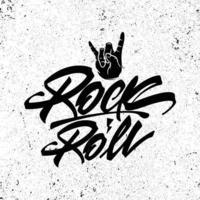 pôster de rock and roll com letras para camiseta vetor
