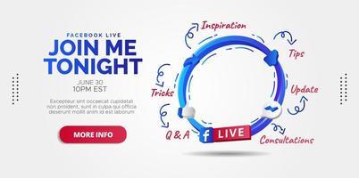 streaming ao vivo do facebook vetor