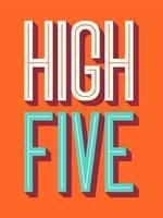 cartaz de tipografia cinco mais altos vetor