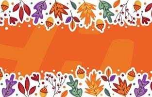 folha de outono fundo floral vetor