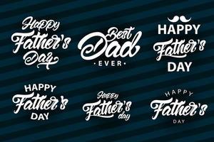 grande conjunto de letras do dia dos pais vetor