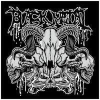 crânio de carneiro de metal preto vetor