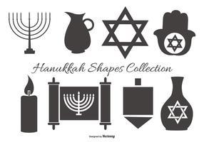 Coleção de formas vetoriais de Hanukkah vetor