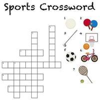 um modelo de palavras cruzadas de esporte vetor