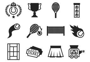 Vetor de ícones de tenis grátis