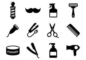 Vetor de ícones barbeiro grátis