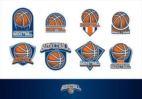 Vetor de basquete logo free vector