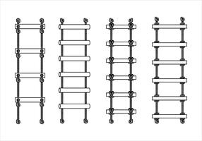 Esqueleto de escada de corda Vector grátis