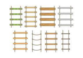 Ícones da Escada de Corda vetor