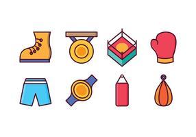 Conjunto grátis de ícones de boxe vetor