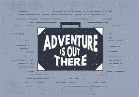Mala de viagem gratuita desenhada à mão com tipografia