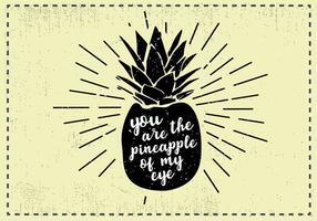 Fundo de abacaxi de desenho de mão livre vetor