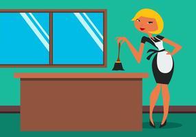 Ilustração da empregada francesa linda vetor