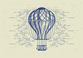 Balão de ar detalhado do vetor livre