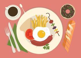 Ilustração de comida de vetores grátis