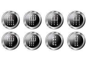 Conjunto de símbolos de mudança de marchas vetor