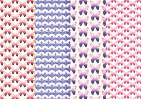 Vector padrões de borboletas coloridas