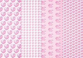 Padrões Vector Hearts Marble