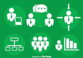 Ponto de encontro e vetor de ícones de negócios