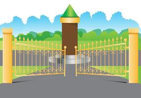 Ouro de portão aberto vetor