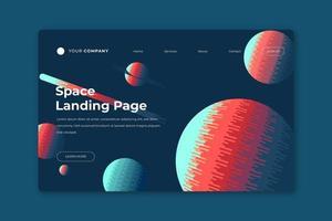 modelo de página de destino do espaço vetor