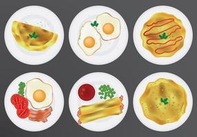 Livre vetor de ícones de omelete