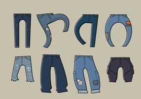 Vetor azul sem jean