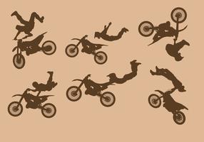 Vetor de motos de sujeira livre