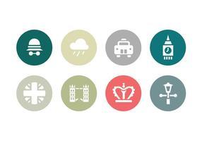 Coleção de ícones lisos de Londres vetor