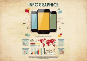 Vector de infografia retro