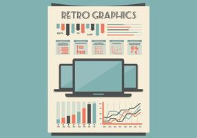 Gráficos e tabelas do Office Throwback Office vetor