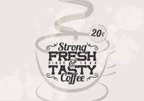 Vetor de Vintage Café Forte
