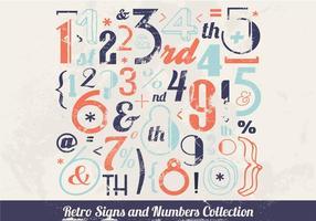 Vector com número inspirado no vintage