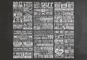 Quadro inspirador Quotes Vector