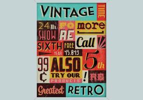 Vector de compras vintage