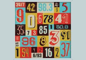 Vetor de números coloridos
