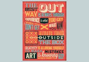 Poster inspirador da faculdade criadora vetor