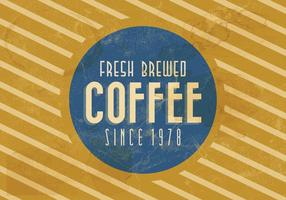 Vetor de café vintage