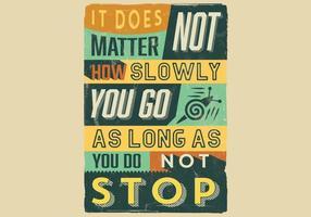 Cartaz inspirador da perseverança vetor