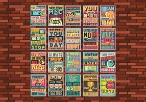 Cartaz inspirador Grid Vector