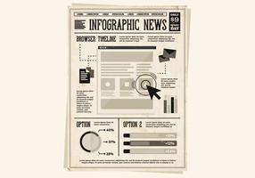 Vetor de boletim do jornal