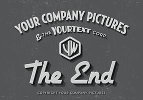 O vetor do cartão de título final