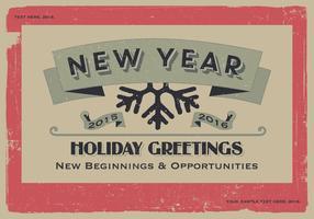 Ano novo, novo começo, vetor