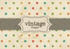 Vetor do padrão de ponto do arco-íris vintage