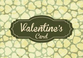 Vector de cartão de Valentine verde