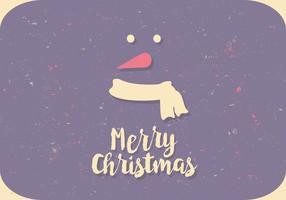 Cartão colorido do boneco de neve vetor