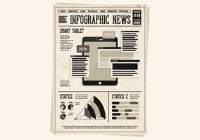 Vetor de tabuleta de infografia
