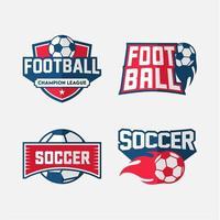 conjunto de emblema de futebol ou futebol vetor